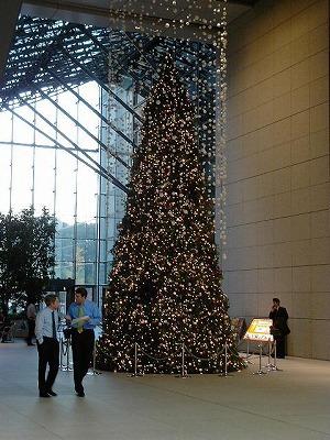 丸の内MY PLAZAのクリスマスツリー
