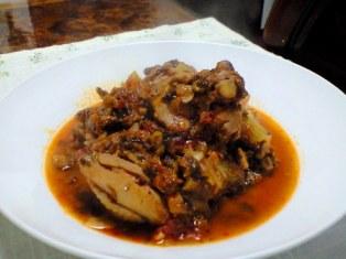 セロリと鶏のトマト煮