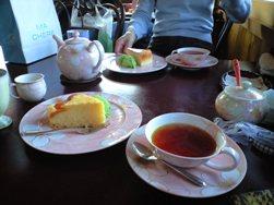 アールグレイとケーキwith抹茶アイス