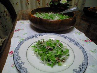 新たまルッコラのアンチョビサラダ