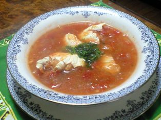 ワタリガニのトマトスープ