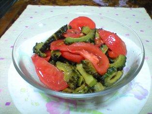 ゴーヤの素揚げwithトマト