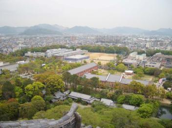 姫路城内部から撮影