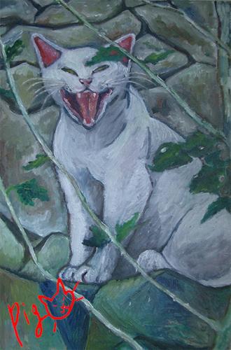 あくび猫1