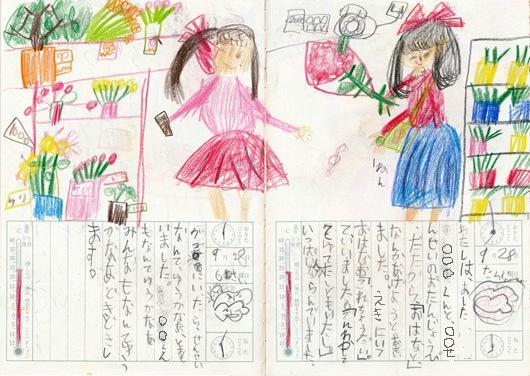 子供日記花プレゼントの巻1