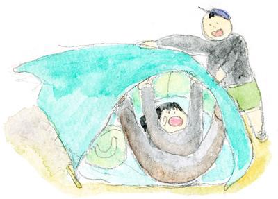 角島海水浴2-2