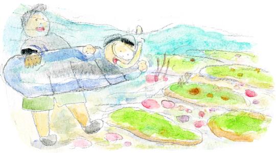 角島海水浴2-8