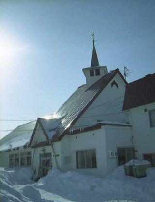 冬のカソリック教会