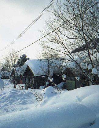 廃墟の炭坑住宅