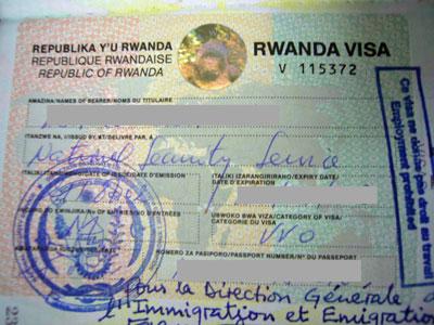 ルワンダ旅行ビザ取得