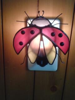 てんとう虫のステンドグラス
