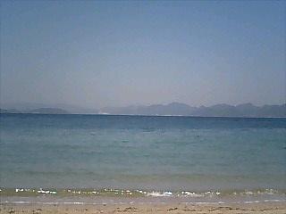 異国の美女のいる海