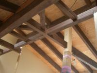 2階天井部分構造材