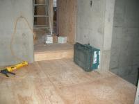 RC部分と木造部分の床の段差