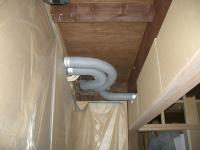 1階押入内の配管