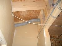 2階トイレへの換気管