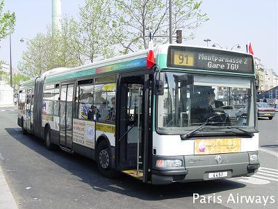 パリのバス 91系統