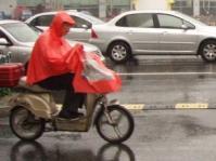 雨の日バイク