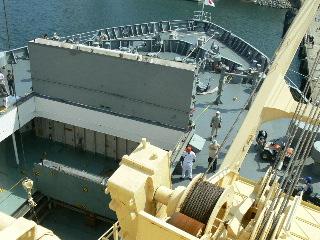艦橋の中はバッテラ状態…死ぬ