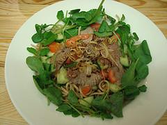 Pasta salad with roast beef