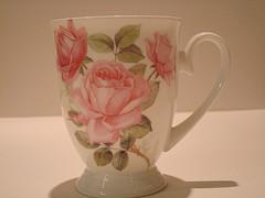 ピンクローズマグカップ