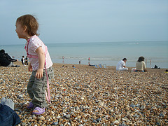 Sophia on Brighton beach
