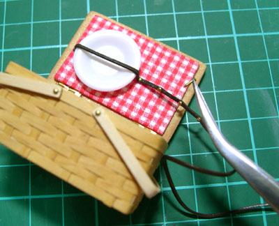 ドールハウス バスケット ミニチュア 作り方 木工
