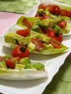 カプレーゼのせチコリサラダ
