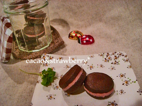 イチゴチョコサンドクッキー