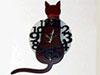 素敵なインテリアの猫時計!!
