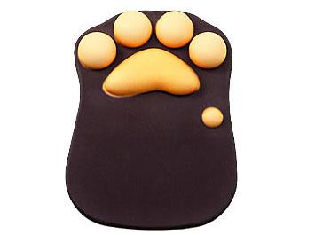 手触り最高!猫の肉球マウスパッッド
