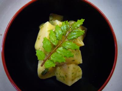タケノコの山椒味噌和え