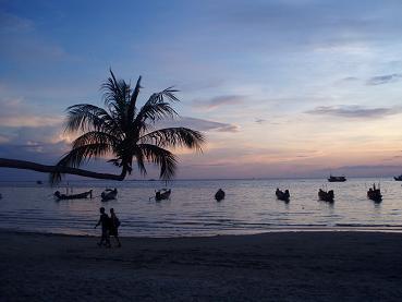 タイ|タオ島|空|天気|海