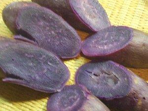 加熱後の紫芋300