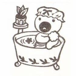 くまガール・お風呂