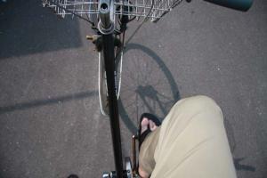 自転車で・・・