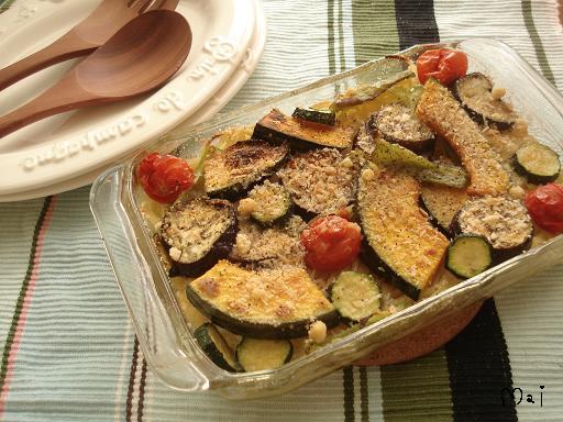 夏野菜パスタ焼き