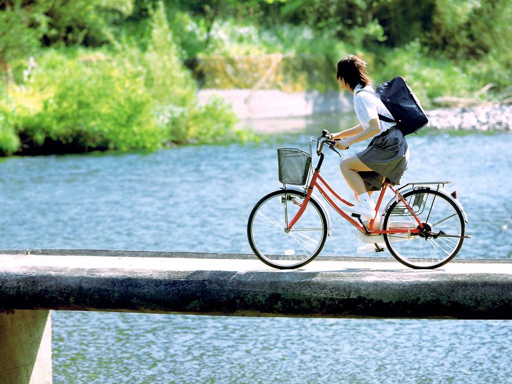 自転車の 自転車 画像 絵 : Bicycle Japanese School Uniform