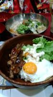 ロコモコと冷麺