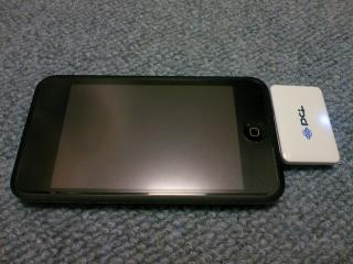 BT-DockTをiPod touchに接続した所