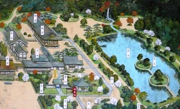 法金剛院地図