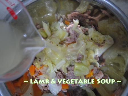 手作りごはん【ラム&野菜スープ編】4