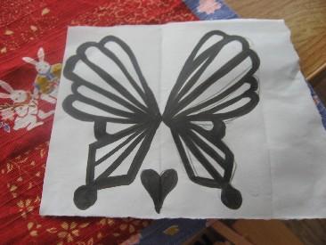 蝶チョコの下絵