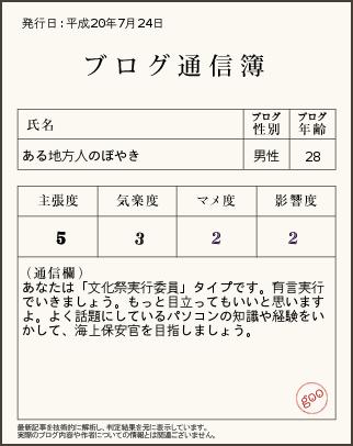 blog通信簿