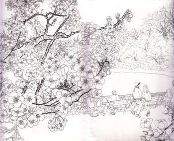 善福寺白黒