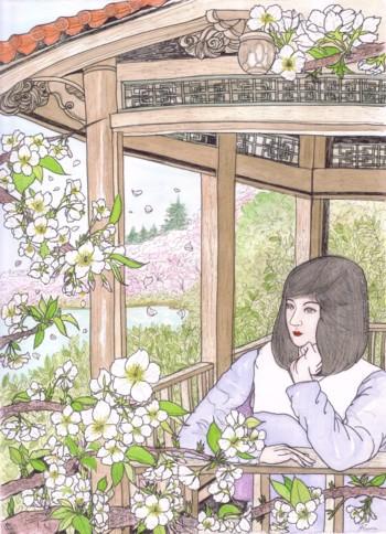 ブログ新宿御苑 大島桜(色
