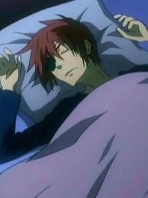 お眠り中・・。