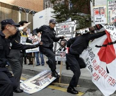 例の反日デモ