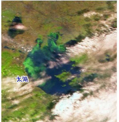 衛星から見たチュウゴクの太湖