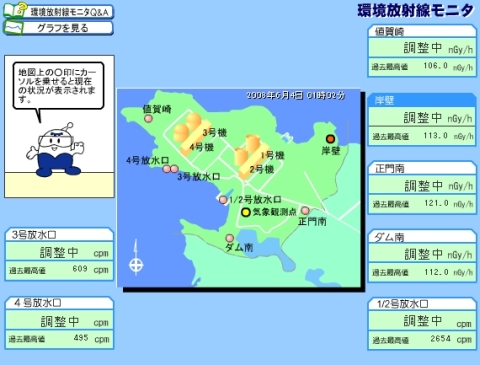 九州電力 環境放射線モニター 6月4日